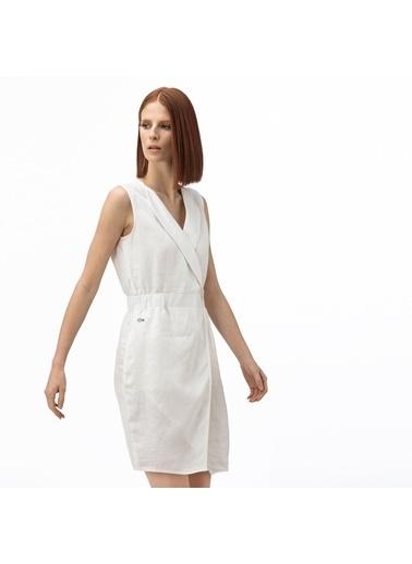 Lacoste Kadın Kruvaze Elbise EF0011.11E Beyaz